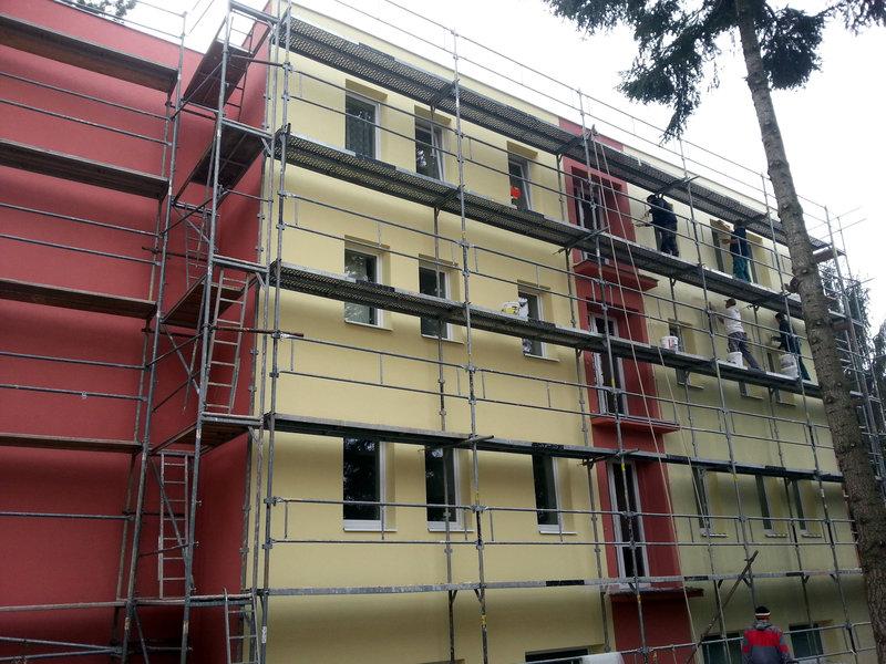 Zateplení fasády, Motel Lazza, Brno
